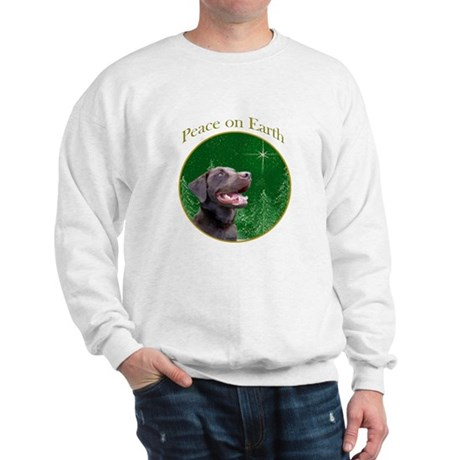 Chocolate Lab Peace Sweatshirt