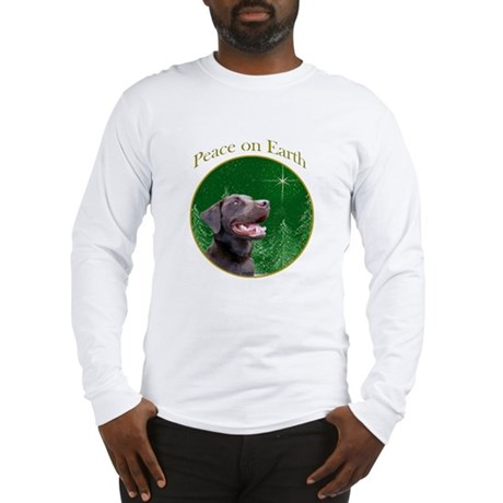 Chocolate Lab Peace Long Sleeve T-Shirt