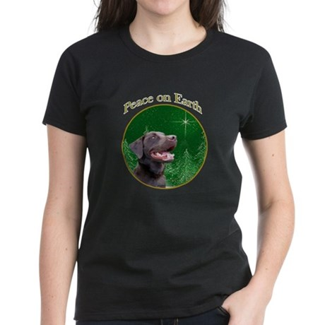 Chocolate Lab Peace Women's Dark T-Shirt