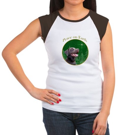 Chocolate Lab Peace Women's Cap Sleeve T-Shirt