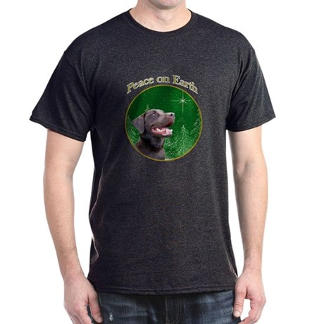 Chocolate Lab Peace Dark T-Shirt