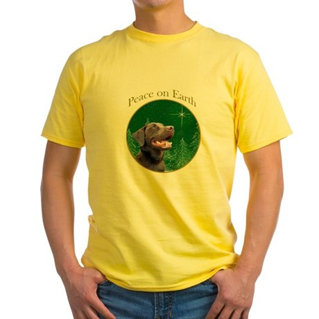 Chocolate Lab Peace Yellow T-Shirt