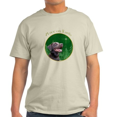 Chocolate Lab Peace Light T-Shirt