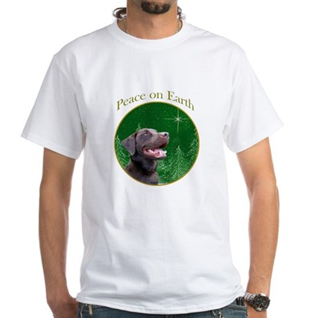 Chocolate Lab Peace White T-Shirt