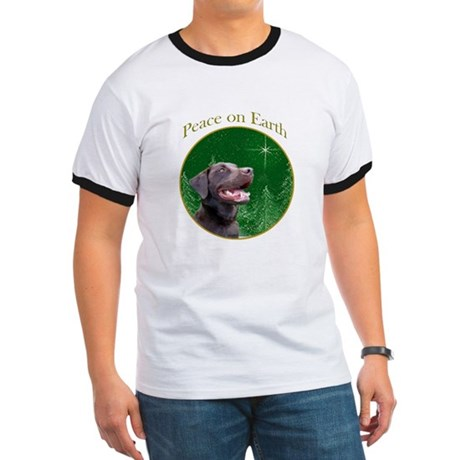 Chocolate Lab Peace Ringer T
