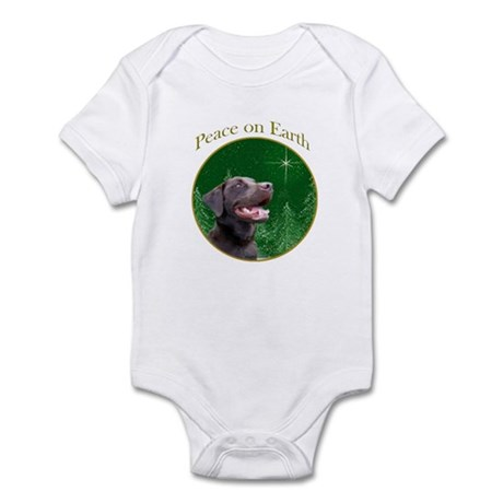 Chocolate Lab Peace Infant Bodysuit
