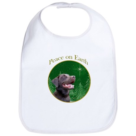Chocolate Lab Peace Bib