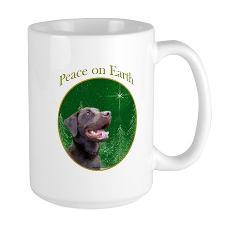 Chocolate Lab Peace Large Mug