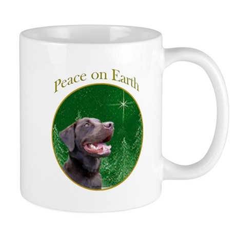 Chocolate Lab Peace Mug