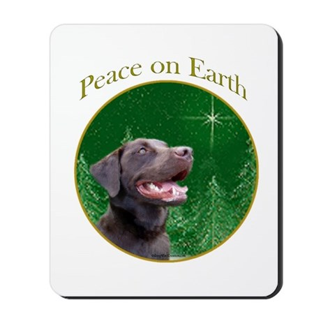 Chocolate Lab Peace Mousepad