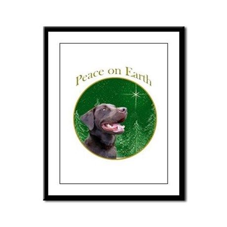 Chocolate Lab Peace Framed Panel Print