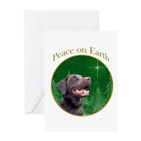 Chocolate Lab Peace Greeting Card