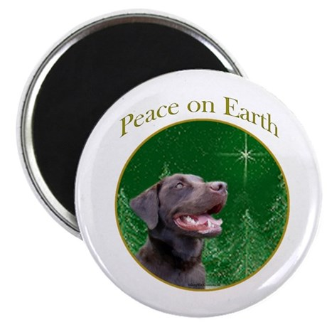 Chocolate Lab Peace Magnet
