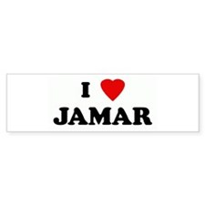 I Love JAMAR Bumper Bumper Sticker