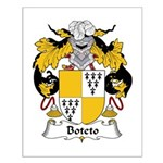 Boteto Family Crest Small Poster
