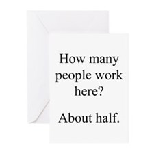 """...people work here?"" Greeting Cards (Pk of 10)"