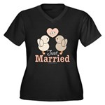 Just Married Newlywed Plus Size V-Neck T-Shirt