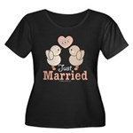 Just Married Newlywed Plus Size Scoop Neck T-Shirt