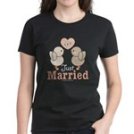 Just Married Bride Groom Newlywed Wedding T-Shirt