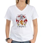 Benevides Family Crest Women's V-Neck T-Shirt