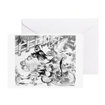 English Trumpeter Group Greeting Card