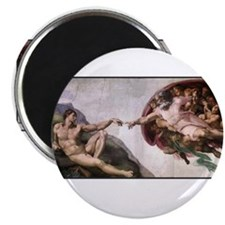 "Michelangelo - God creates Da 2.25"" Magnet (10 pac"