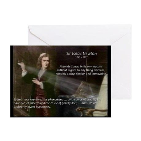 Newton's Absolute Space: Greeting Cards (Package o
