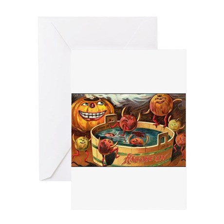 Halloween Apples Greeting Card