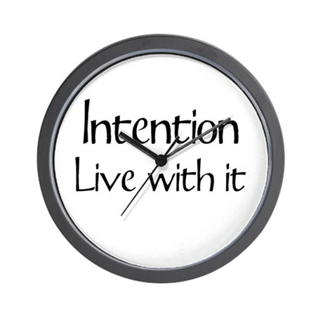 Intention - Live with it Wall Clock