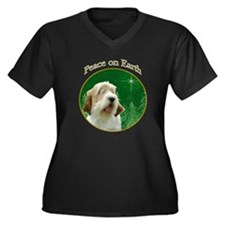 PBGV Peace Women's Plus Size V-Neck Dark T-Shirt