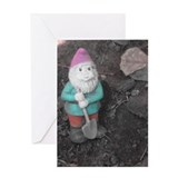 Busy Gnome Greeting Card