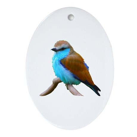 Bluebird Oval Ornament