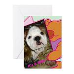It's a GIRL Bulldog Greeting Cards (Pk of 10)