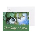 Thinking of you Bulldog Greeting Cards (Pack of 6)