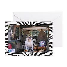 Fishin Bulldog Greeting Cards (Pk of 10)