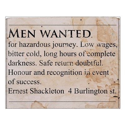 Shackleton Antarctica - Small Poster