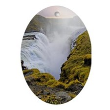 Gullfoss Oval Ornament