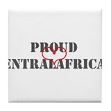 Proud Central African Tile Coaster