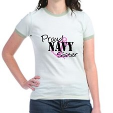 Navy Proud Sister pink Anchor T
