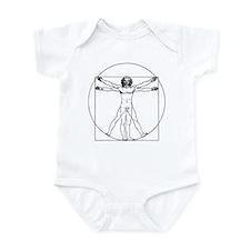 Da Vinci Vitruvian Man Infant Bodysuit