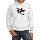Proud Navy Aunt Pink Anchor Jumper Hoody