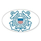 Coast Guard Oval Bumper Stickers