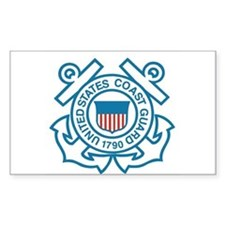 Coast Guard Rectangle Decal