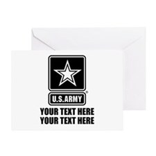 CUSTOM TEXT U.S. Army Greeting Card