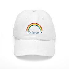 Kalamazoo (vintage rainbow) Baseball Cap