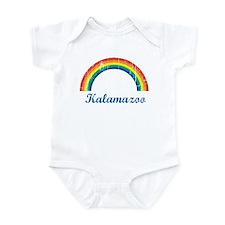Kalamazoo (vintage rainbow) Onesie