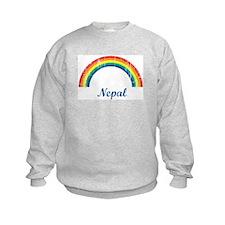 Nepal (vintage rainbow) Sweatshirt