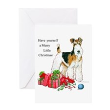 Merry Little Fox Terrier Greeting Card
