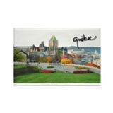 Old Quebec Pano with Signatur Rectangle Magnet
