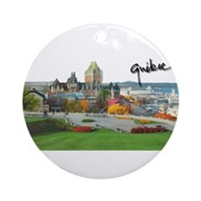 Old Quebec Pano with Signatur Ornament (Round)